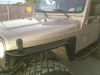 "Front HOODLINE Tube Fenders with 3"" Flare (Pair)"