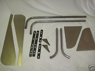 DIY kit - Standard Front Tube Fenders (No Flare) (pair)