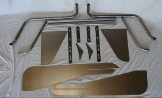 "DIY Kit - Front Tube Fenders with 4 1/2"" Flare (pair)"